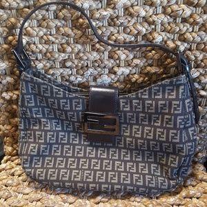 Fendi -Zucca Jacquard Monogram Hobo Bag